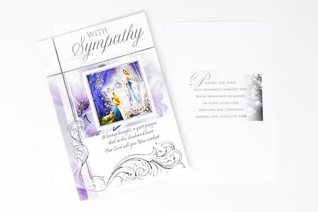 Lourdes Sympathy Card.