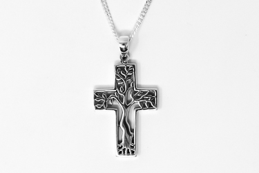 Tree of Life 925 Cross Necklace.