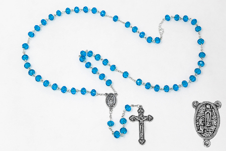 Bernadette Turquoise Crystal Rosary.