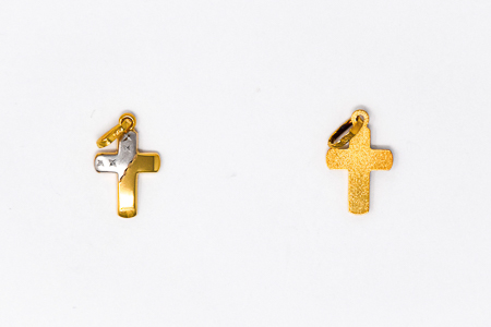 Solid Gold Cross Pendant.