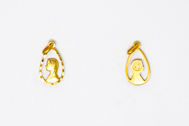 Gold Virgin Mary Pendant.