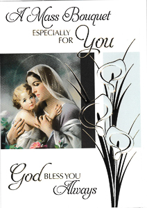 Virgin Mary  Mass Card.