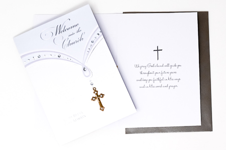 Welcome into the Church Card.