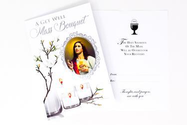 Mass Bouquet Get Well Card.