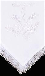 White Communion Handkerchief.