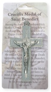 White St.Benedict Crucifix.