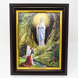 Wood Framed Lourdes Picture.