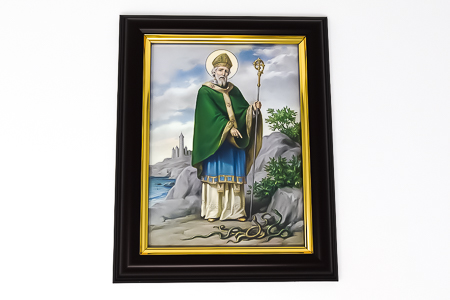 Wood Framed Saint Patrick Picture.