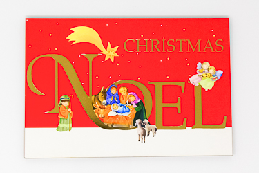Wood Post A Plaque - Noel.