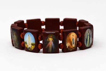 Wooden All Saints Bracelet;