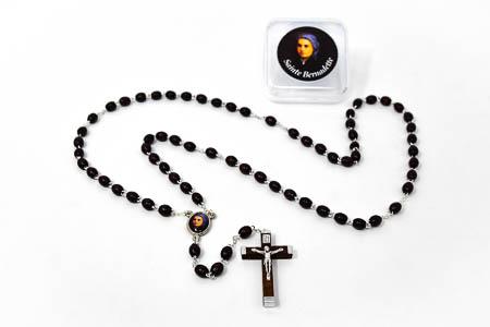 Wooden St Bernadette Rosary Beads