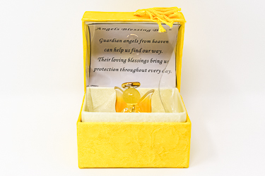 Yellow Guardian Angels Blessing Box.