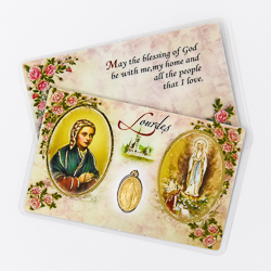 Apparition Prayer Card & Miraculous Medal.