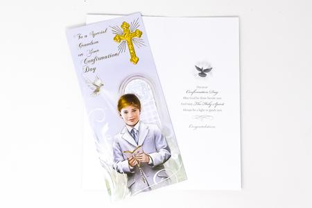 Boxed Confirmation Card Boy.