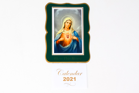 Immaculate Heart of Mary Bless this House 2021 Calendar.