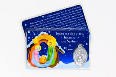 Nativity Christmas Prayer Card