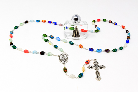 Azure Stone Miraculous Rosary.