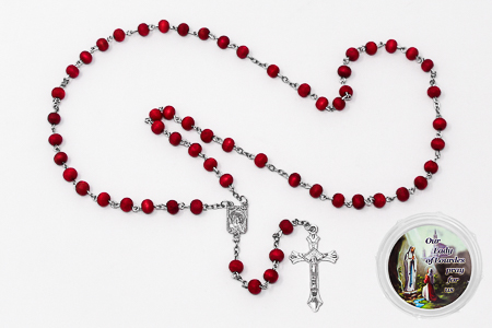 Rose Scented Lourdes Rosary Beads.