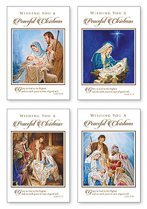 16 Peaceful Christmas Cards Boxed.