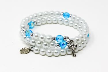 Cream Rosary Bracelet