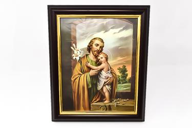 Saint Joseph Wood Picture.