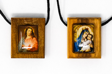 Wooden Scapular Necklace
