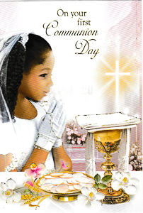 Communion Card Girl.