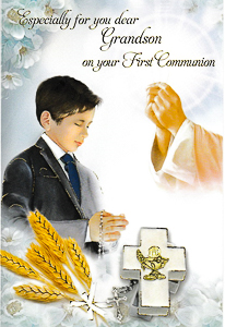 Grandson First Holy Communion Card.
