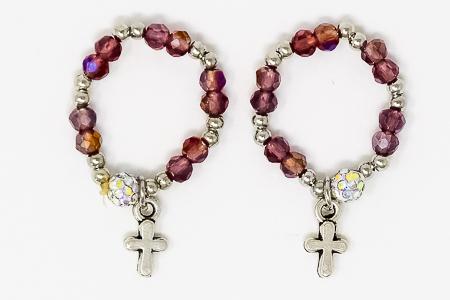 Crystal Finger Rosary Ring.