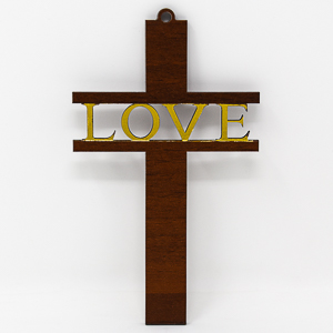 Love Wooden Cross