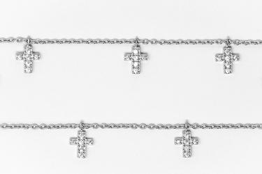 Solid 925 Sterling Silver Lourdes Rosary Bracelet