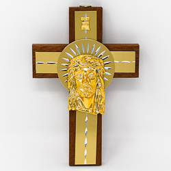 Cross Depicting Jesus Head.