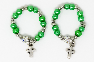 Green Finger Rosary Ring.