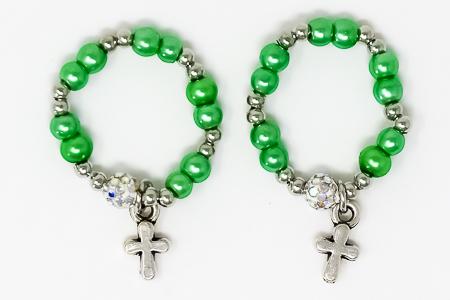 Green Finger Rosary Ring.