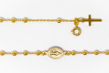 Miraculous Medal Gold Rosary Bracelet.