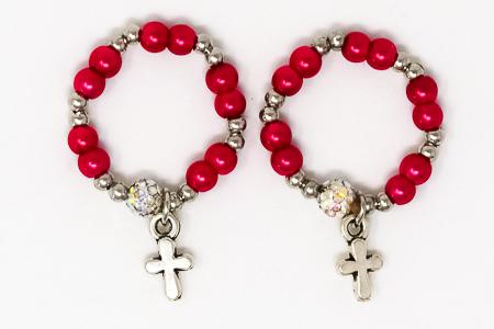 Red Finger Rosary Ring.