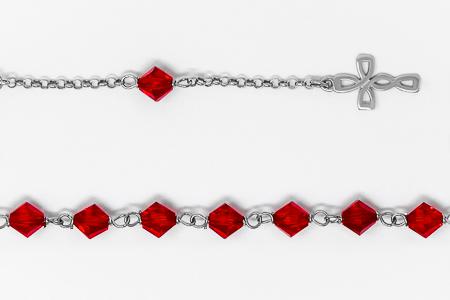Ruby Red Swarovski Crystal 925 Silver