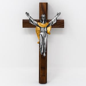 Risen Christ  Wooden Crucifix.