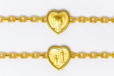 Lourdes Heart Apparition Bracelet