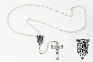 luminous Lourdes Water Rosary Beads.