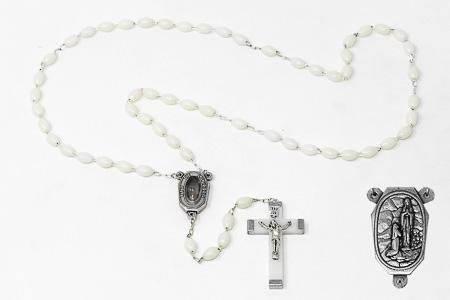 luminous Lourdes Water Rosary Beads.