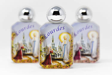 3 Beautiful Bottles of Lourdes Holy Water