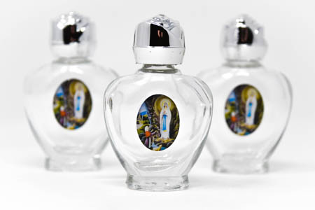 3 Blessed Heart Bottles of Lourdes Holy Water