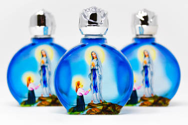 3 Blue Bottles of Lourdes Holy Water