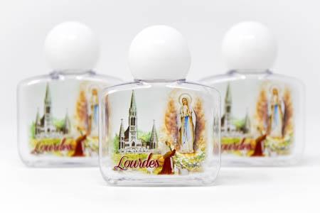Lourdes Plastic Color Holy Water Bottles.