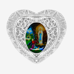 925 Lourdes Trinket / Rosary Box.