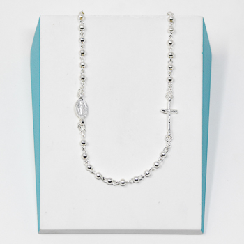 925 Silver Rosary Necklace.
