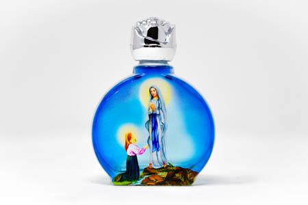 Blue Bottle of Lourdes Holy Water