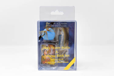 Lourdes Holy Water Bottle & Novena Book Set.
