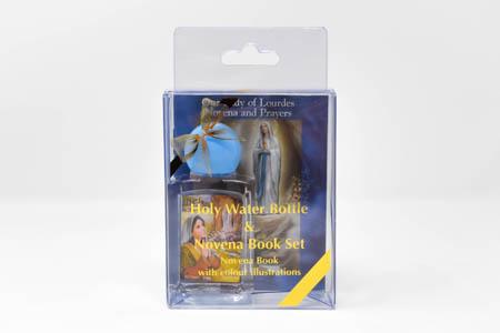 Lourdes Holy Water Bottle & Novena Book Set.
